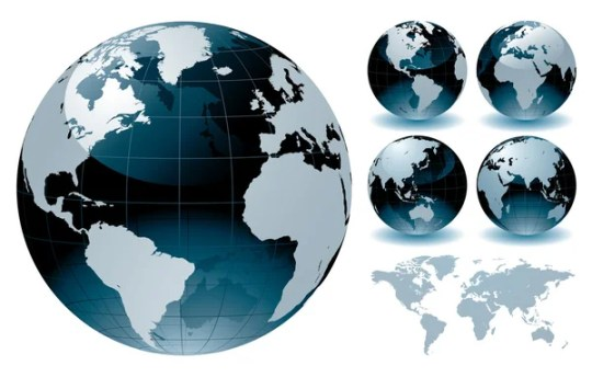 World Globe Maps     Stock Vector      rtguest  9119885 World Globe Maps