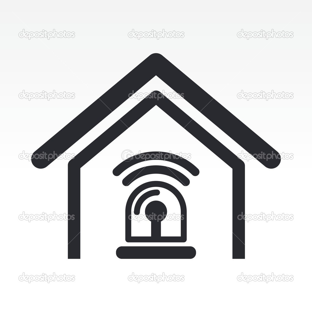 Vector Illustration Of Home Alarm Icon