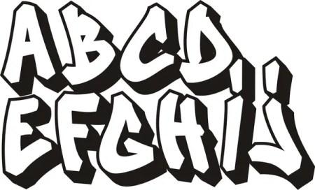 ᐈ Graffiti Letter Font Stock Vectors