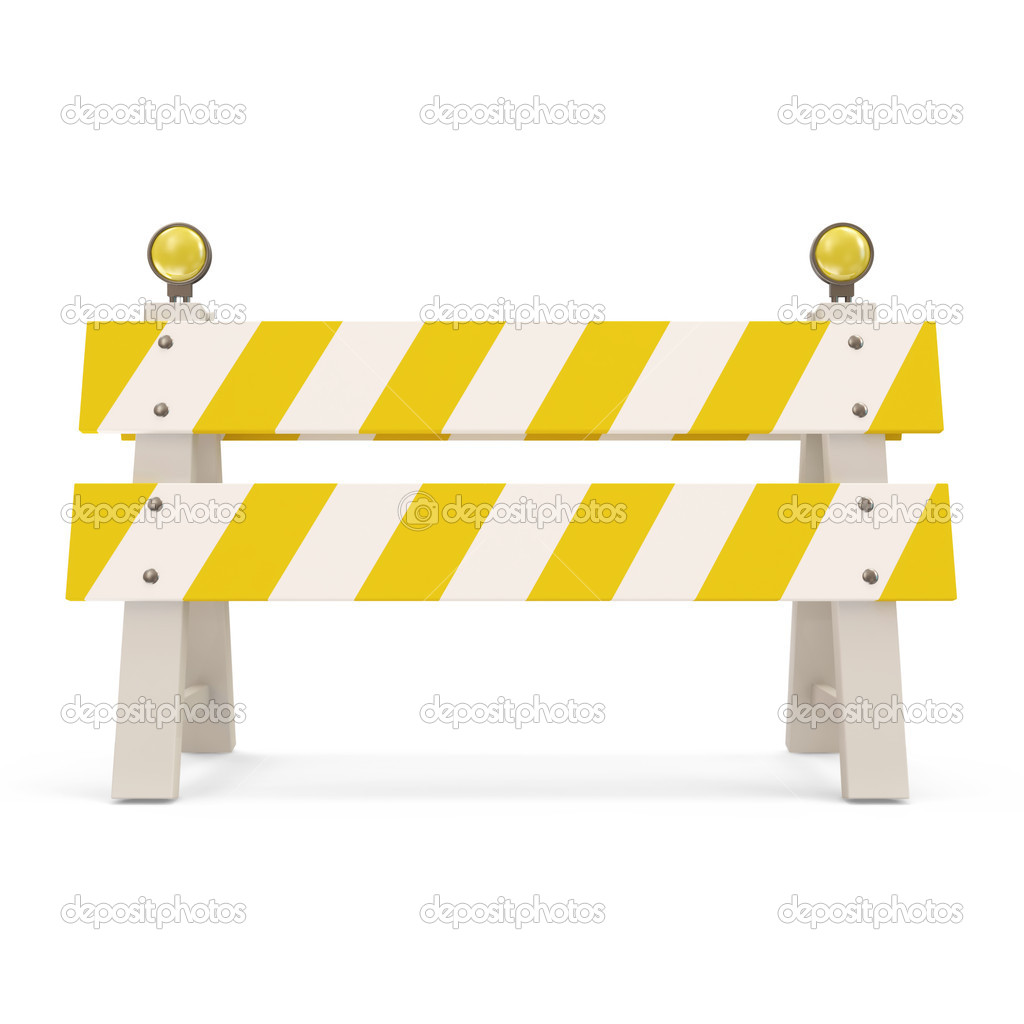 Road Barrier On White Background