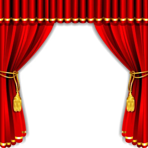 red stage curtain images