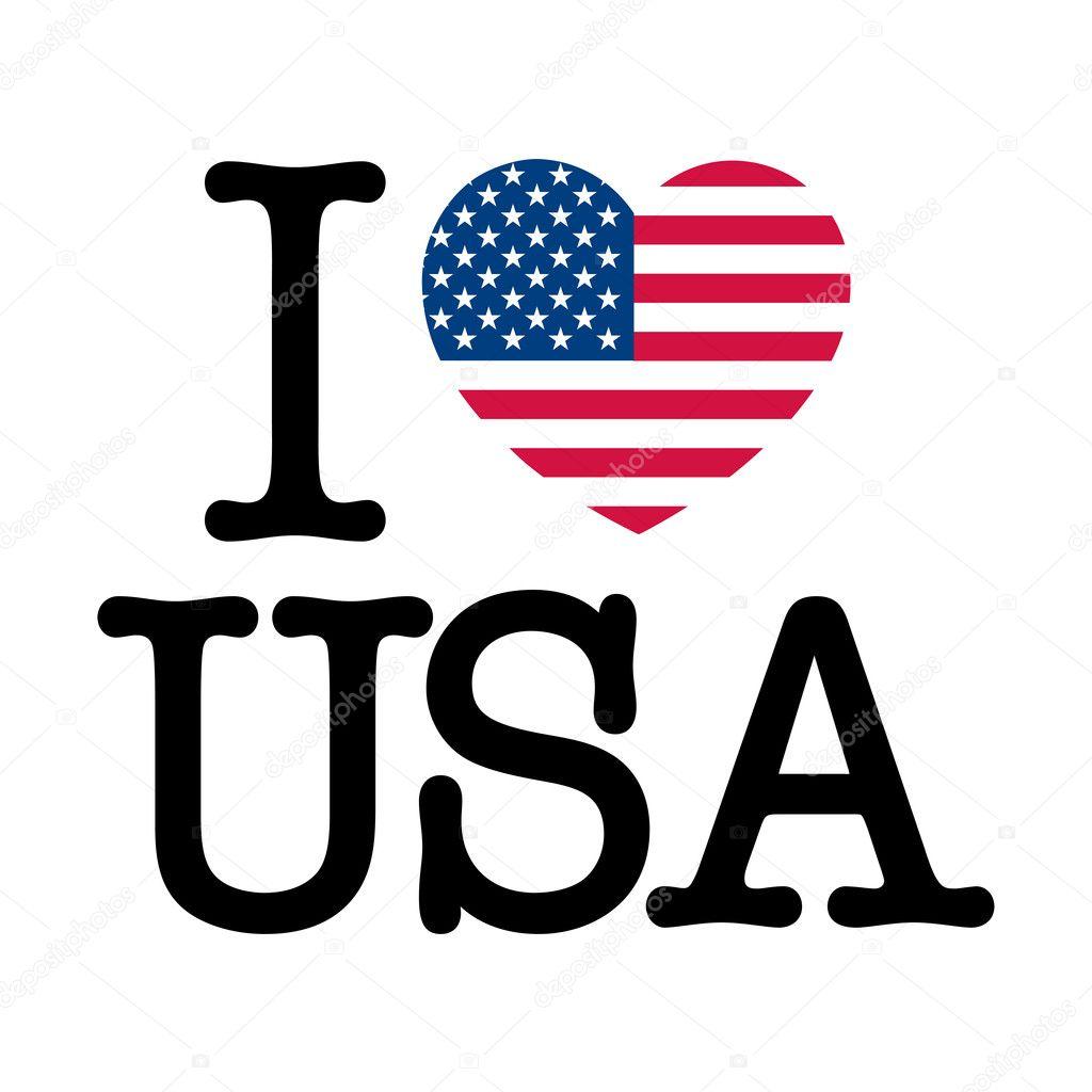 Download I Love USA — Stock Vector © Thomaspajot #9341200