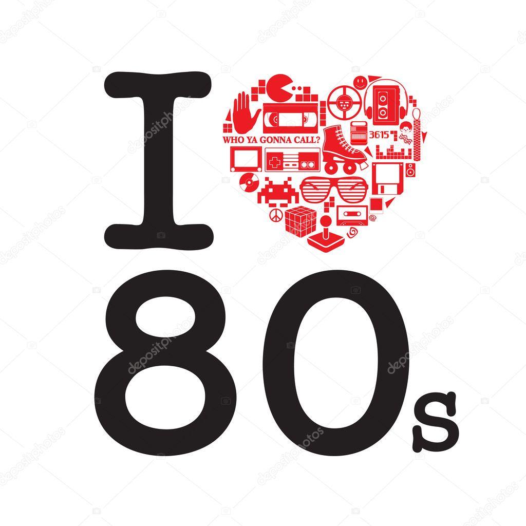 Download I Love 80's — Stock Vector © Thomaspajot #9951572