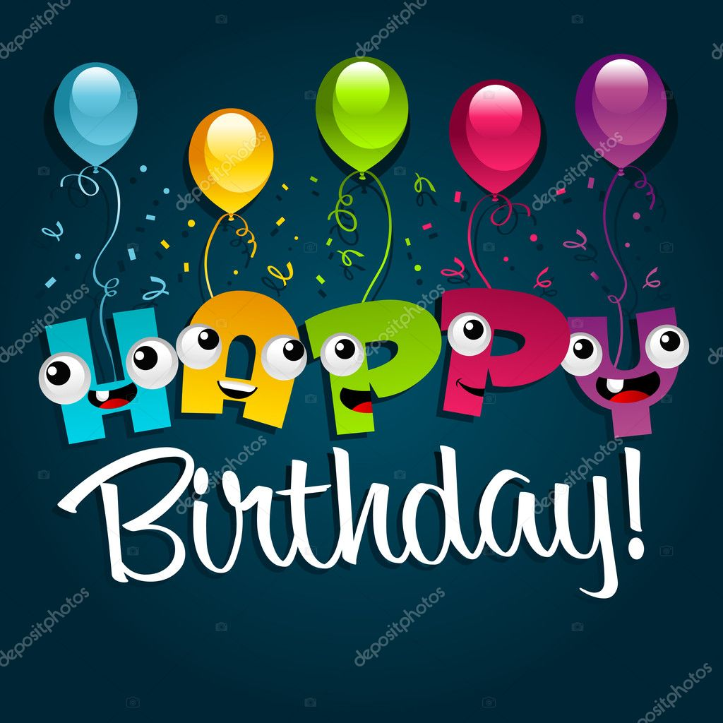 Happy Birthday Greeting Card Vector Image By C Mictoon Vector Stock 10229903