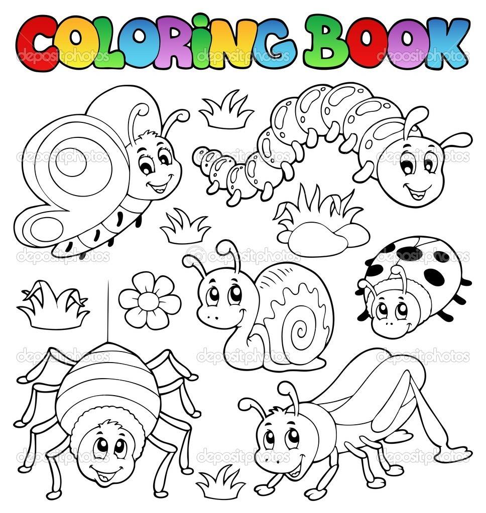 coloring book cute bugs 1 stock vector  clairev 11550456