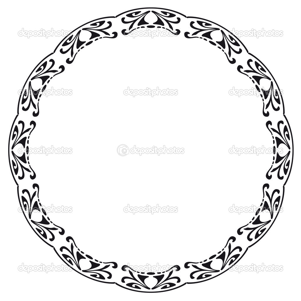 Rounded Frame In The Style Of Art Nouveau