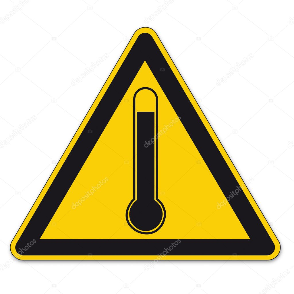 Safety Signs Warning Triangle Sign Bgv High Temperature