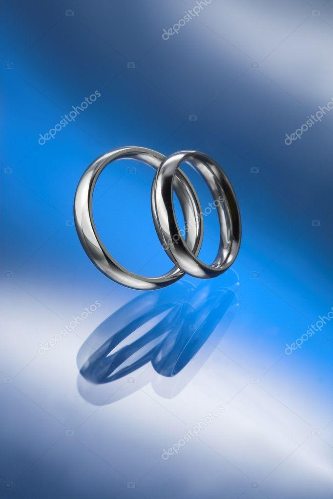 Einfache Paar Eheringe Stockfoto Belphnaque 11572507