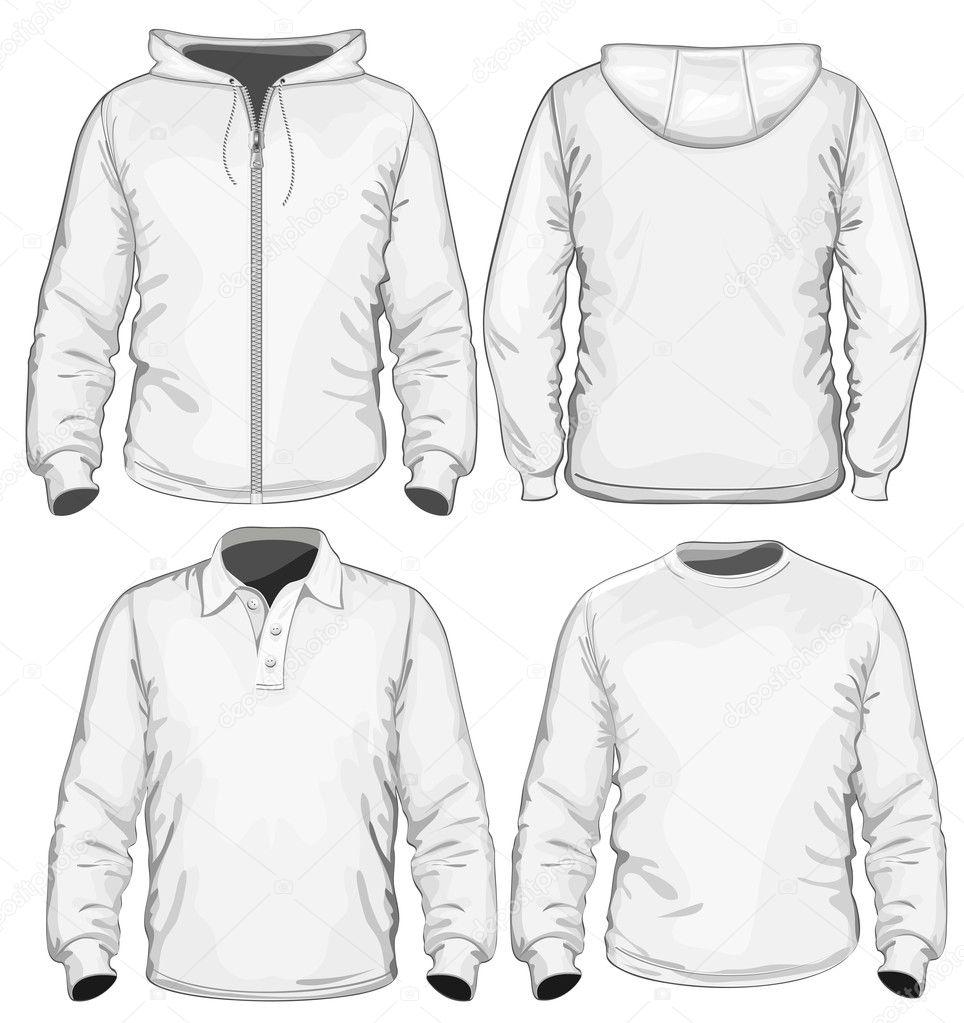 Tee Shirt Templates. men s polo shirt t shirt and sweatshirt long ...