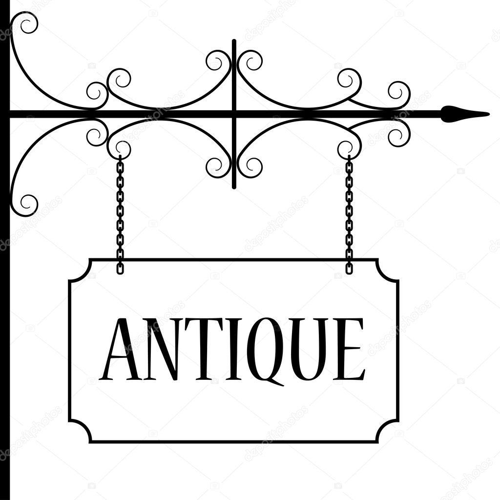 Antiguo Letrero Vintage