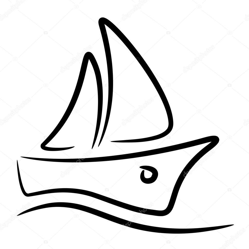Segelboot Stilisiertes Symbol