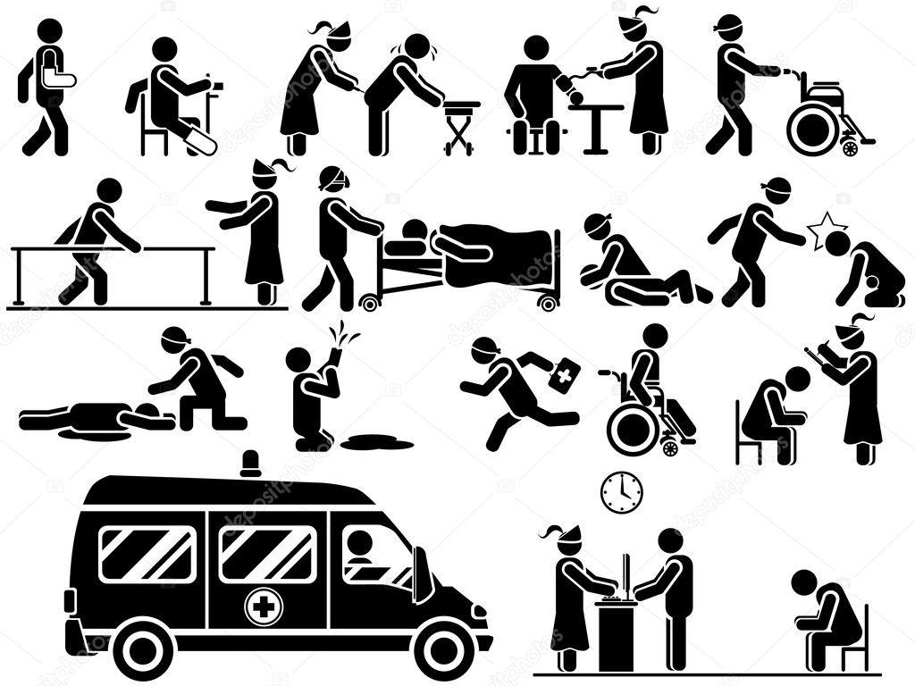 Pictogram Man Ziekenhuis