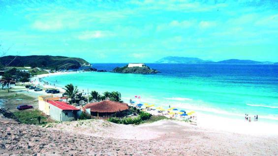 Playa do Forte, la isla y el fuerte de Sao Matheu, de 1620.