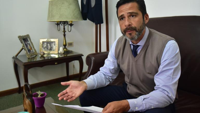 Juez. Sergio Pintos estuvo a cargo del operativo. (La Voz)
