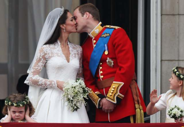 Una foto del matrimonio di William e Kate