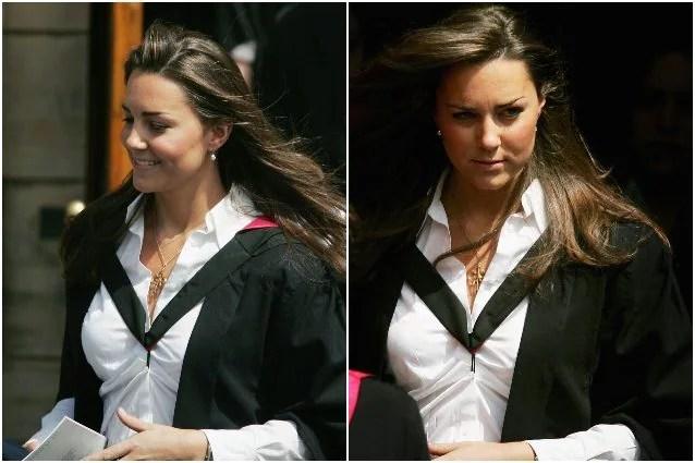 La laurea di Kate nel 2005