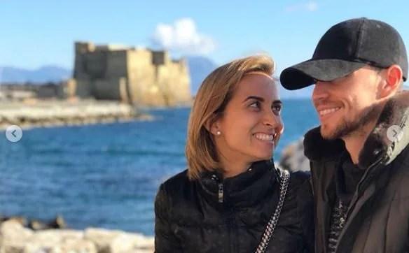 Jorginho e l'ex moglie Natalia