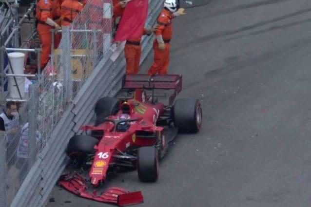 Leclerc resta in pole position al GP di Monaco: il cambio della Ferrari  dopo l'incidente è ok