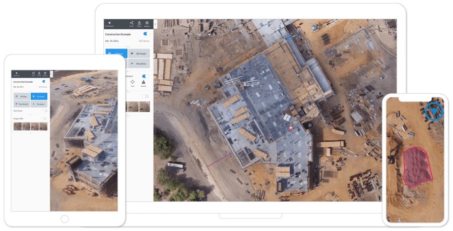 Powerful Drone   UAV Mapping Software   DroneDeploy drone software platform desktop and mobile