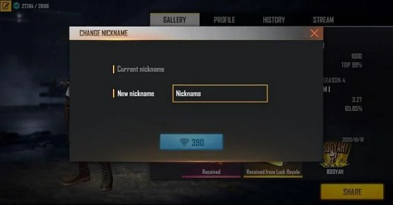 How to change the name