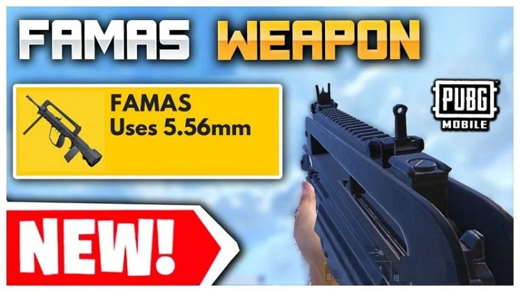 """Now"" سلاح famas ببجي    موقع السلاح الجديد FAMAS"