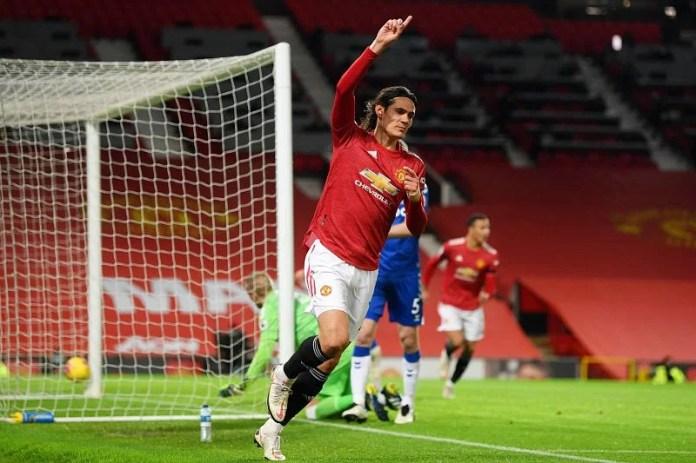 Cavani opened the scoring with his sixth goal this season.
