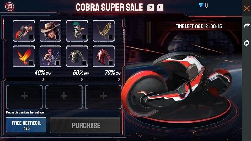 Cobra Super Sale event