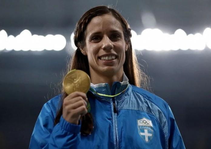 Greece's Ekaterini Stephanidi at Rio 2016 Olympic Games