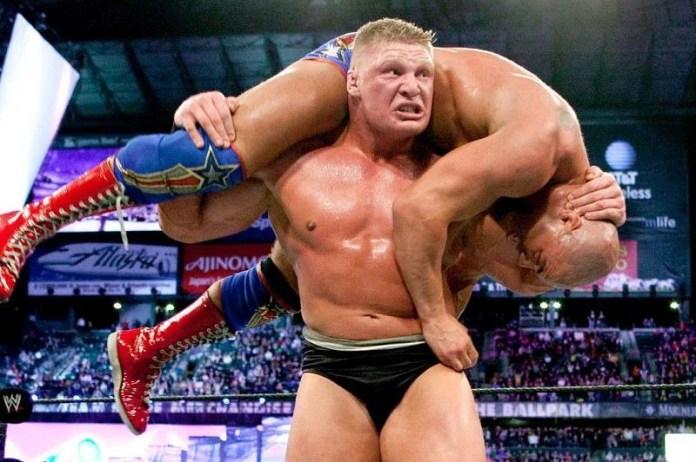 A lot happened between Brock Lassner and Kurt Angle