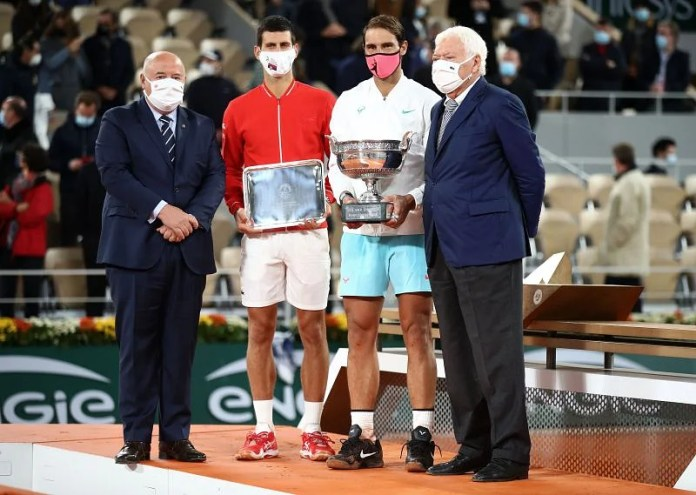 Rafael Nadal defeated Novak Djokovic in the final of the 2020 French Open