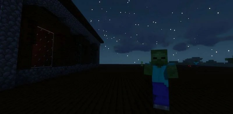Shown: A group of Zombies spawning on top of a Woodland Mansion (Image via Minecraft)