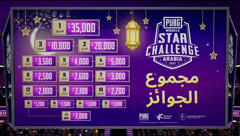 PMSC Arabia 2021 prize pool distribution