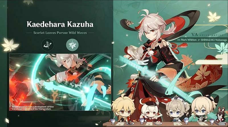 Official confirmation of the English and Japanese voice actors (Image via Genshin Impact)