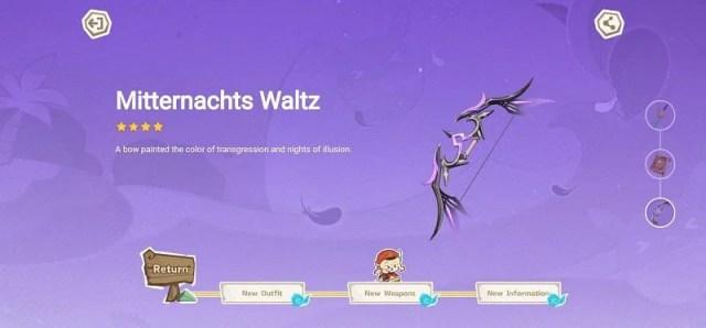 Preview of Mitternachts Waltz (image via Genshin Impact)