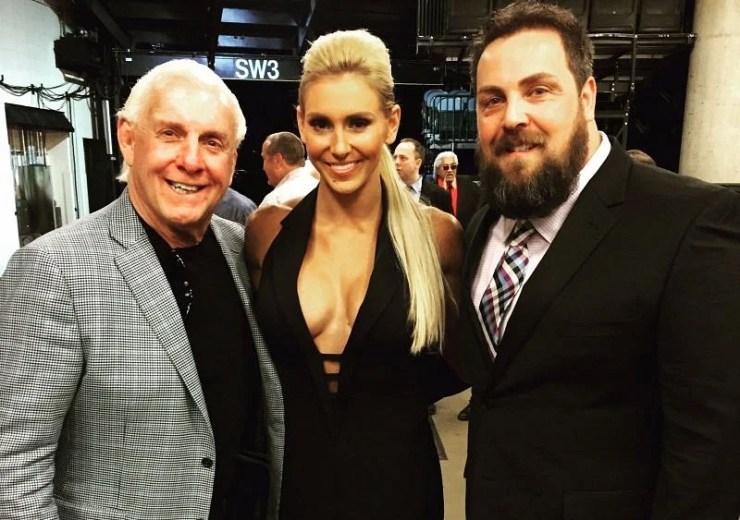 Charlotte, Ric, and David Flair