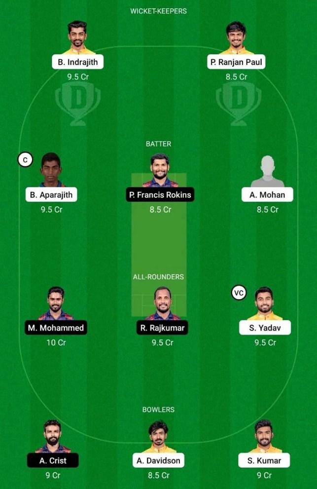 NRK vs ITT Dream 11 Team-1 - TNPL