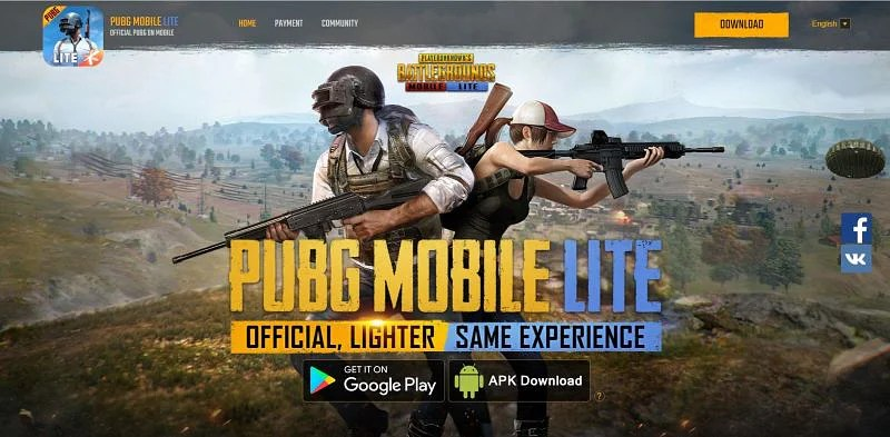 """Gamers should be on the """"APK Download"""" button to get the APK file (Image via PUBG Mobile Lite)"""