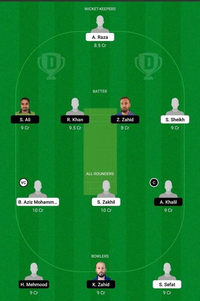 ECC T10: BEL vs SWE Dream11 Team - 2