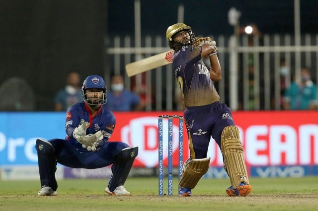 Rahul Tripathi's six sealed the deal for KKR against DC