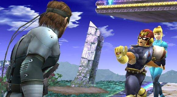 Voice This Snake Fighting Captain Falcon Over ZS Samus Behind The Voice Actors