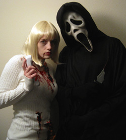 Halloween 2010 - Perhaps Lito and his wife take their love of SCREAM too far?