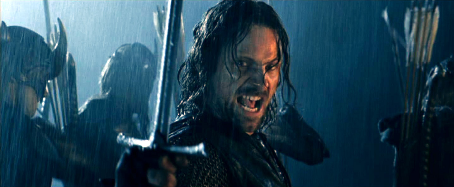 Aragorn in The Two Towers - strangely invincible, unlike the heroes in The Final Empire