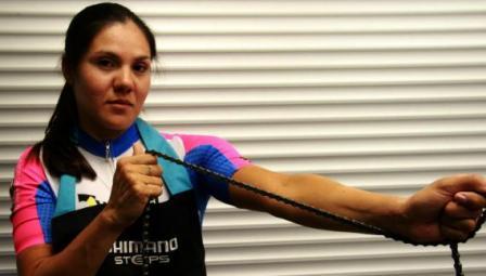 Mariela Delgado se pasó a ciclismo adaptado en 2013 y ya fue subcampeona mundial. (Foto: Gentileza Prensa Weber Shimano).