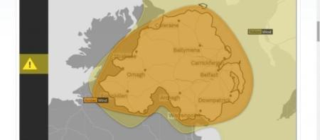 Hurricane Ophelia expected to cross UK on Monday  residents prepare Amber and yellow warning issued over the UK as hurricane Ophelia  approaches  Image Credit