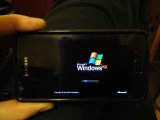 Windows XP on Samsung Galaxy S2 - booting