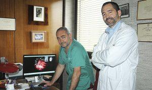 Luis Ley y Avelino Parajón, del Hospital Ramón y Cajal, de Madrid.