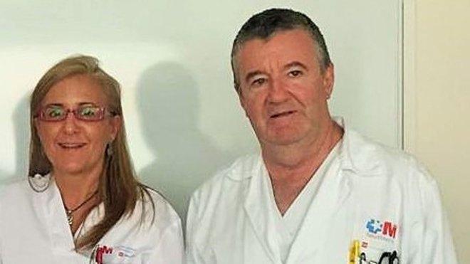 Patricia de Sequera Ortiz, especialista del Hospital Universitario Infanta Leonor y Rafael Pérez García, jefe de Nefrología del mismo centro hasta su jubilación.