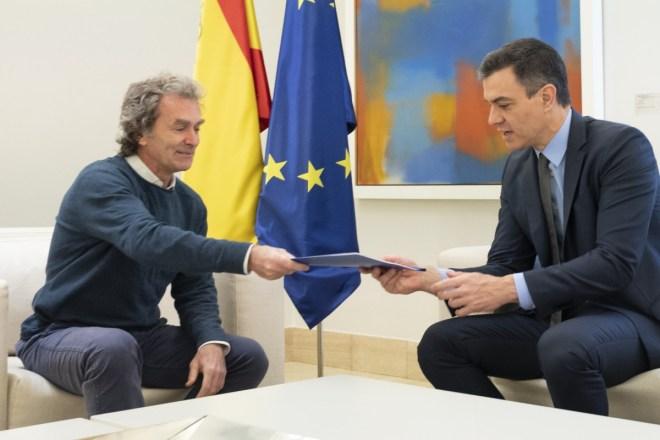Fernando Simón y Pedro Sánchez