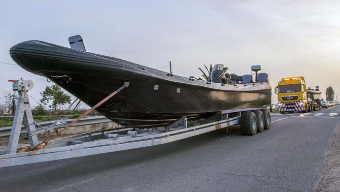 Embarcació pneumàtica confiscada dins l'operació