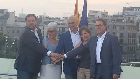 """Els cinc primers de la candidatura """"Junts pel Sí"""" (Anna Salicrú)"""